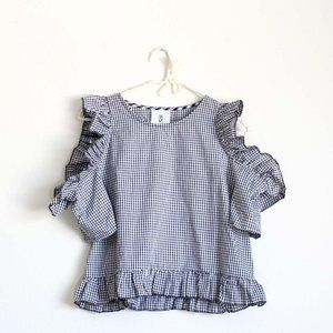 NWT LF RP Gingham Cold Shoulder Top